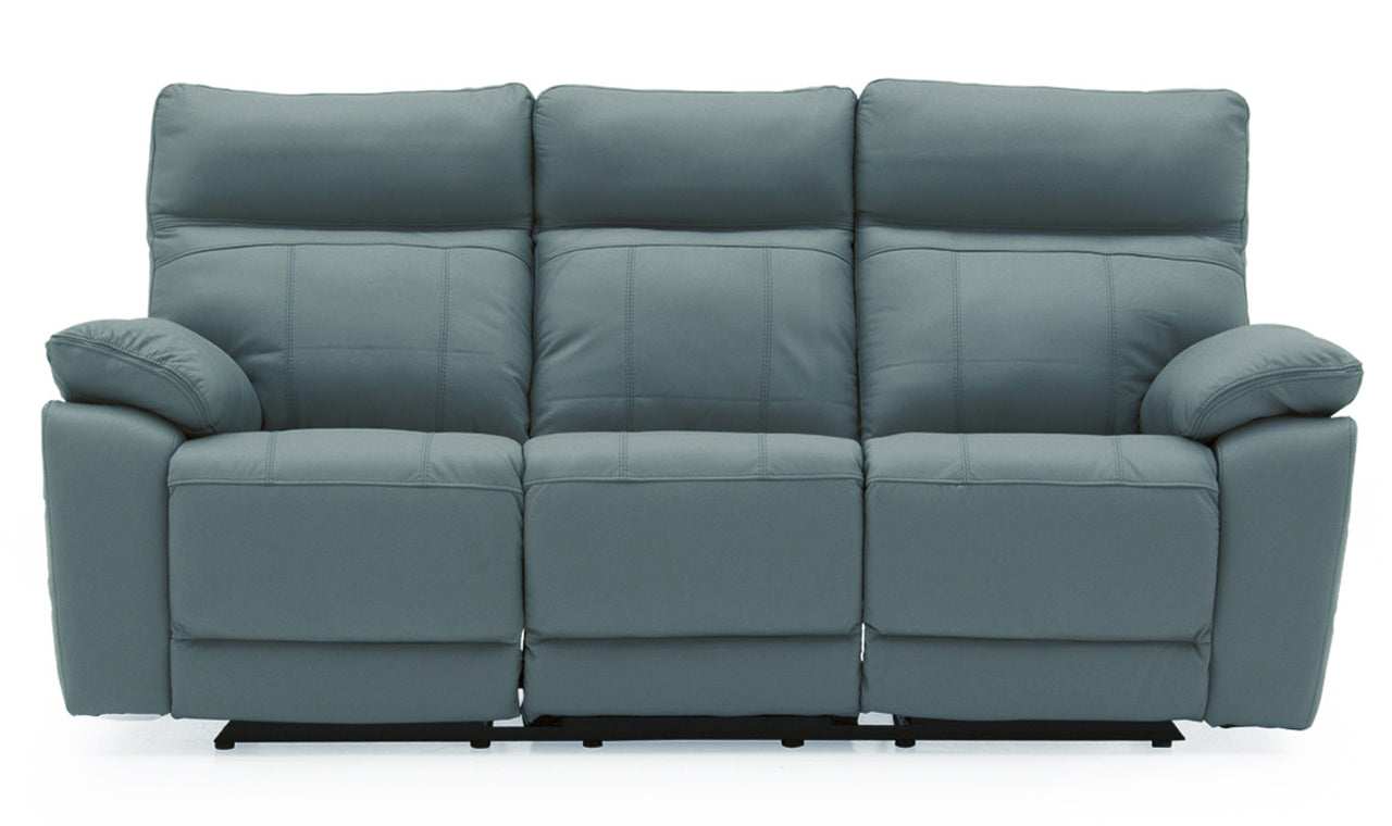 Positano 3 Seater Recliner - Blue
