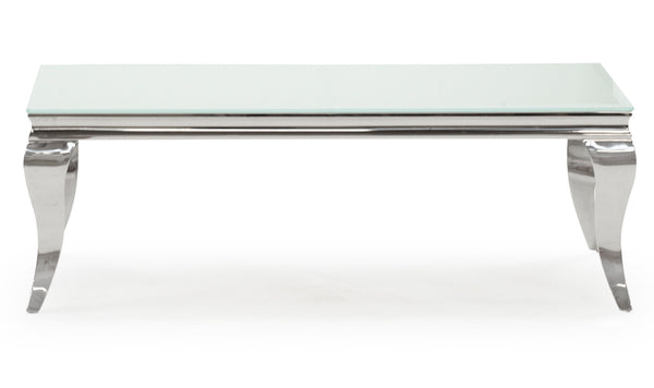 Louis Coffee Table - White 1300mm