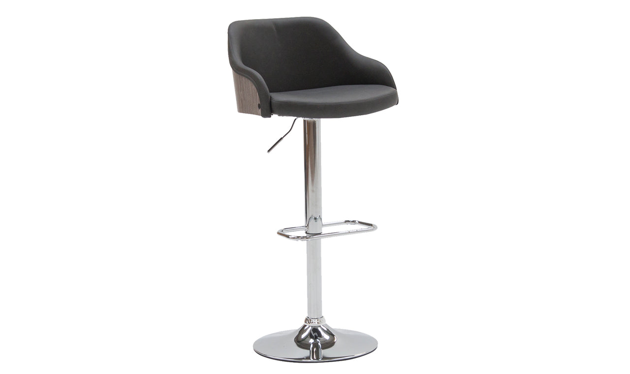 Fossil Bar Chair Gas Lift - Charcoal PU