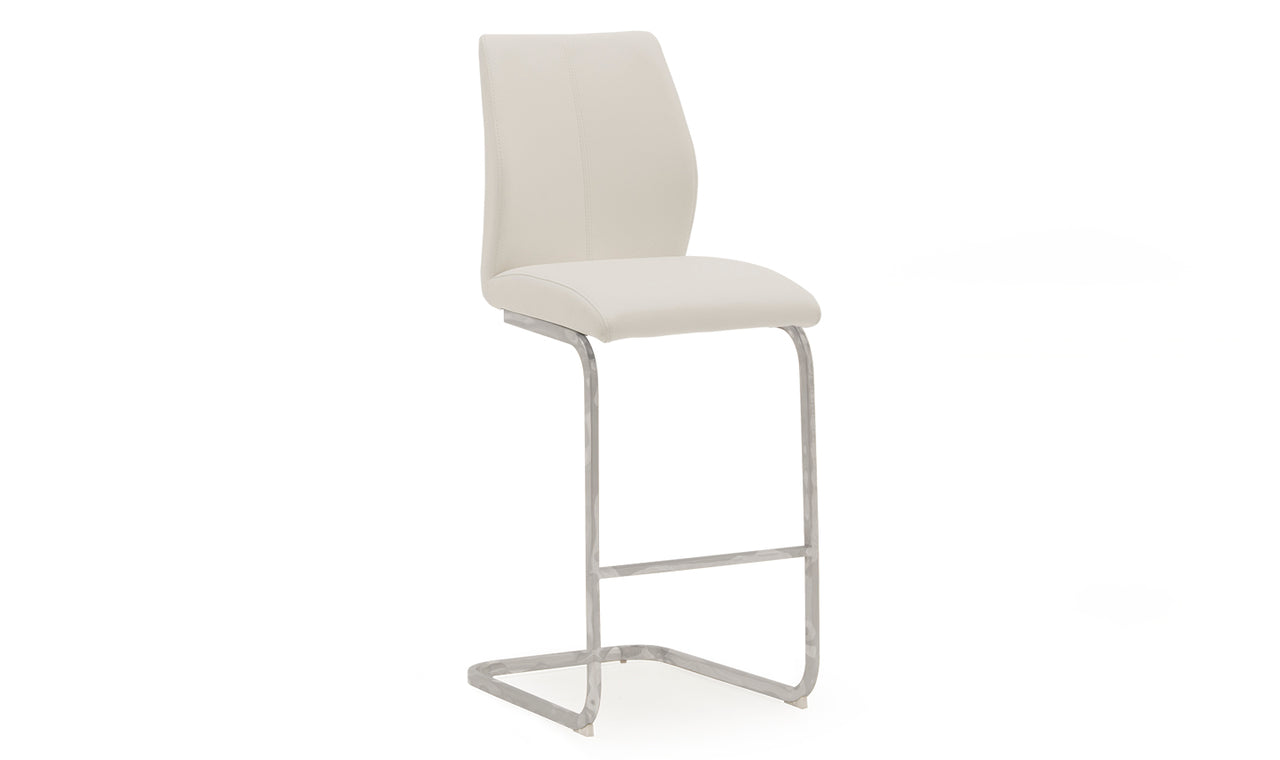 Elis Bar Chair - Chrome Leg White (2/Box)