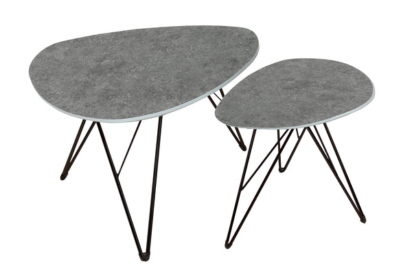 Otto Coffee Table Triangle - Grey Concrete Dark