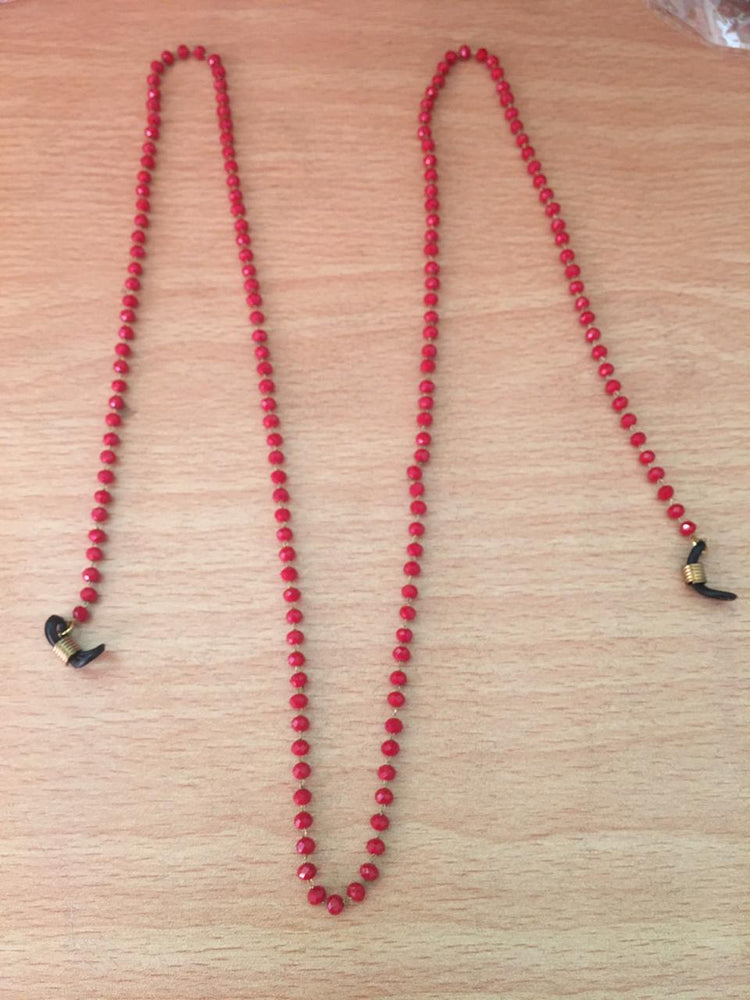 Sunglass  necklce red crystal