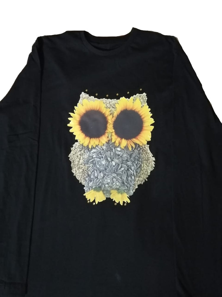 Sunflower owl T-shirt