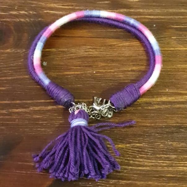 Purple Anklet