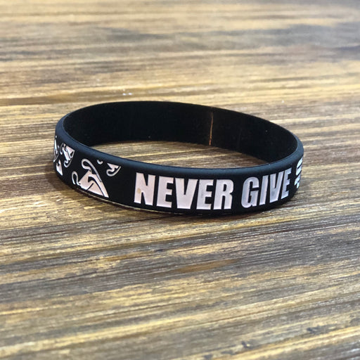 Never Give Up Rubber Bracelet