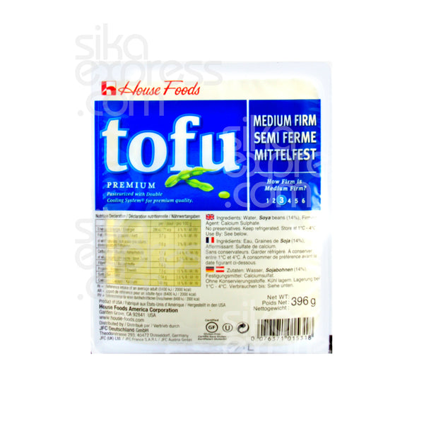 Premium Tofu: Medium Firm 396g