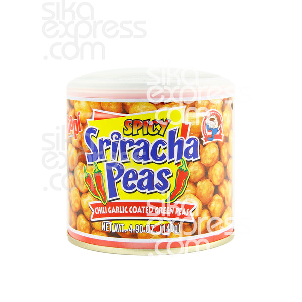 Spicy Sriracha Chilli Garlic Coated Green Peas 140g