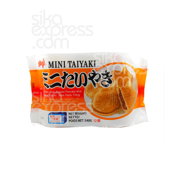 "❄Mini ""Taiyaki"" Frozen Fish-Shapped Pancake with Sweet Adzuki Bean Paste Filling 540g"