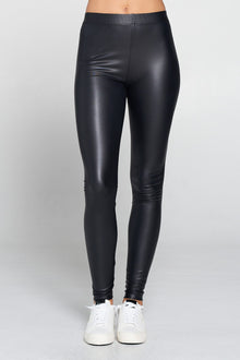 Matte Leather High Waisted Leggings