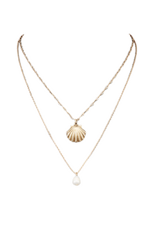 Shell & Pearl Layer Necklace