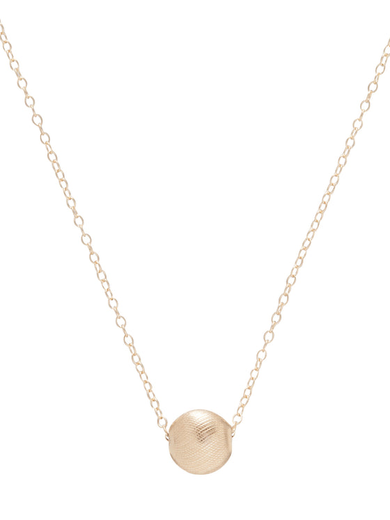 "Gold 16"" Necklace  with Honesty Charm"