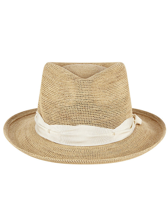 Davis Fedora in Natural Ivory