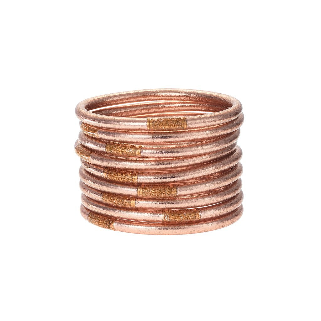All Weather Rose Gold Bangles