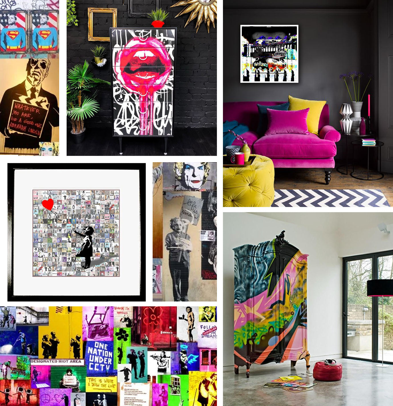 Street Art Inspired Interiors