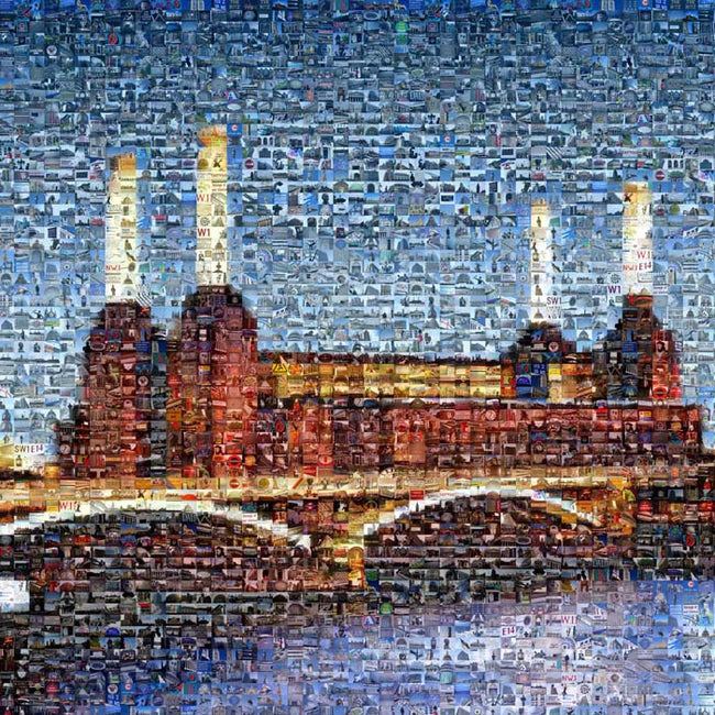 Battersea Power Station Art - Dusk