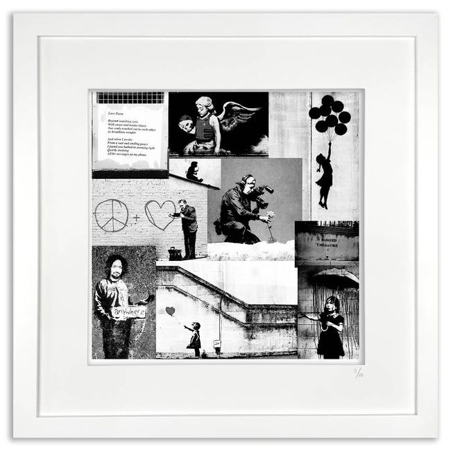 banksy framed artwork