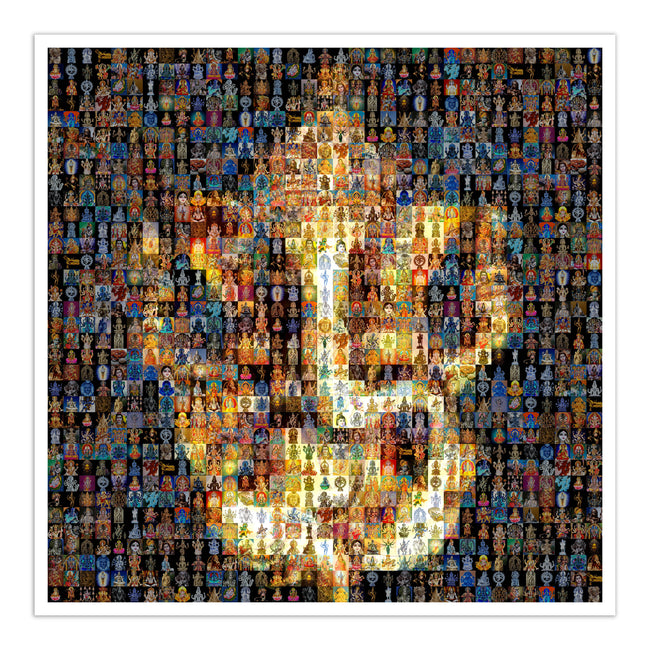 Ganesh mosaic art on canvas