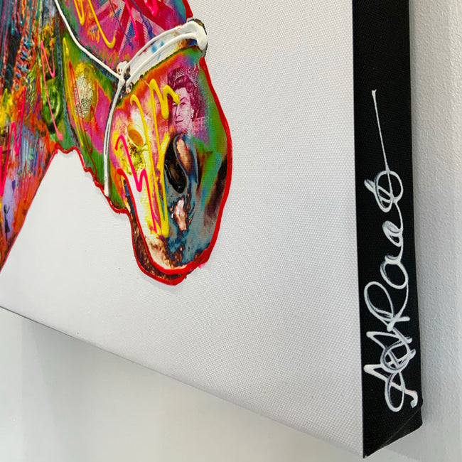 horse art on canvas