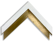 INLAY FRAME CUSTOM - WHITE with GOLD INLAY