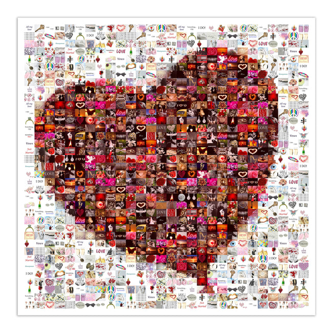 love mosaic art