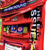Hand embellished London art