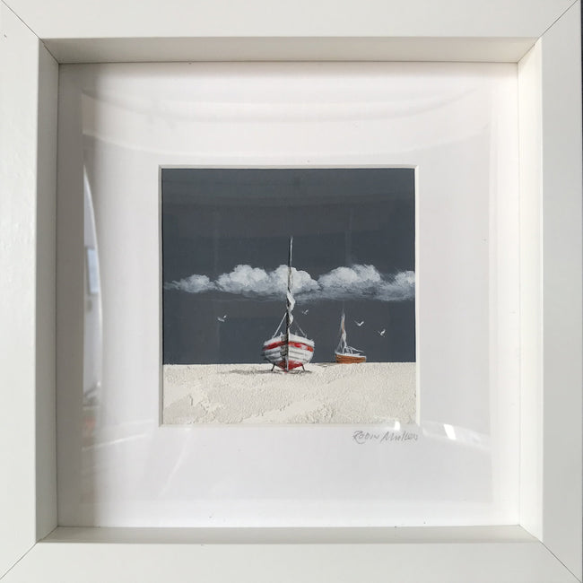 Glass Framed Original Seascape - Deep Sky