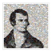 Robbie Burns mosaic portrait