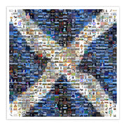 Scottish flag art