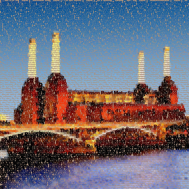 Battersea Power Station Art - Dusk Textualised