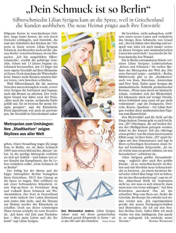 Thank you Tagesspiegel for the Interview!