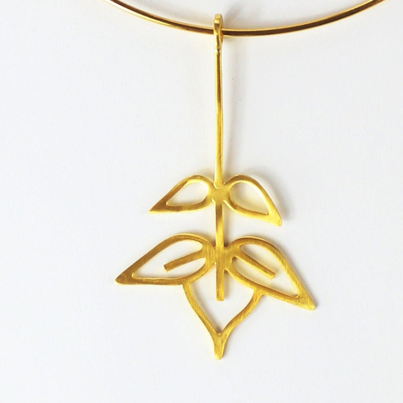 Ash tree collar necklace