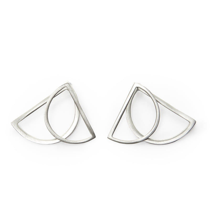 Half Moon Ear Jacket Earrings
