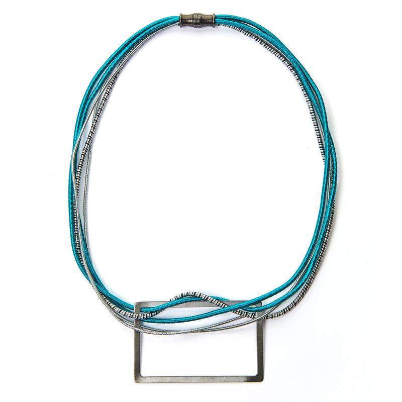 Rectangle Multi Strand Necklace (Turquoise)