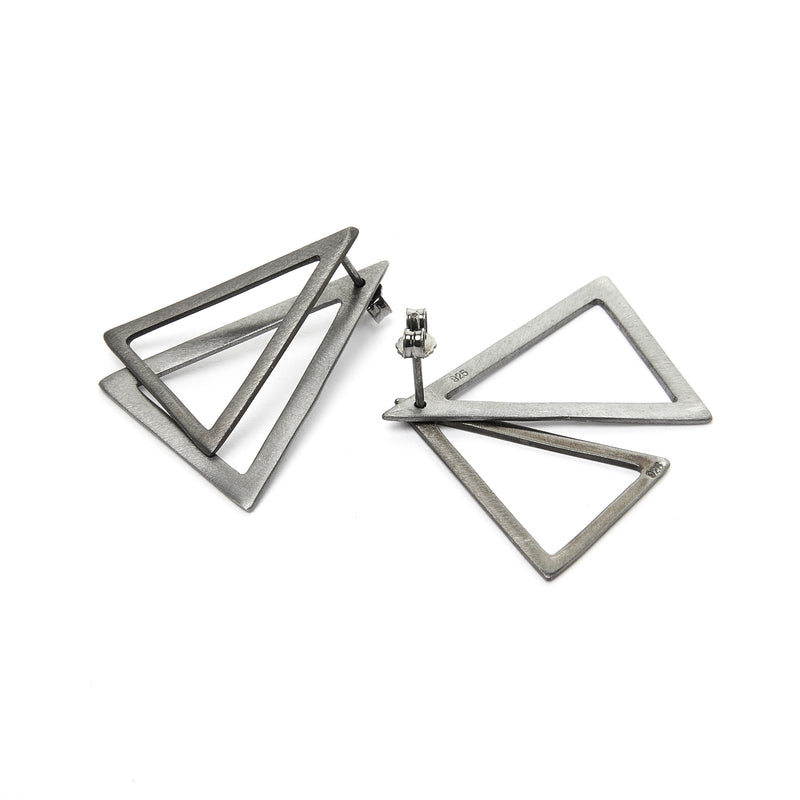 Straight Triangle Ear Jacket Earrings