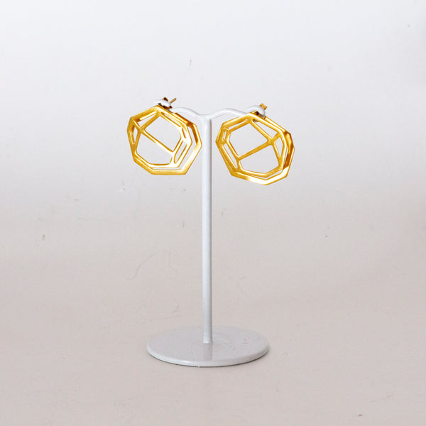 Gem shape ear jacket earrings