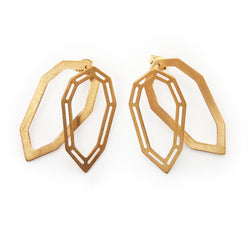 Tear Gem ear jacket earrings