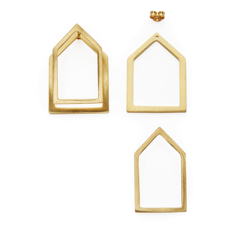 Home ear jacket earrings