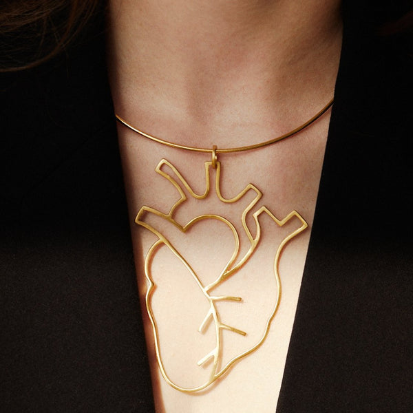 Human Heart Collar Necklace