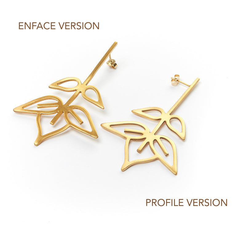 Ash tree earrings (enface version)