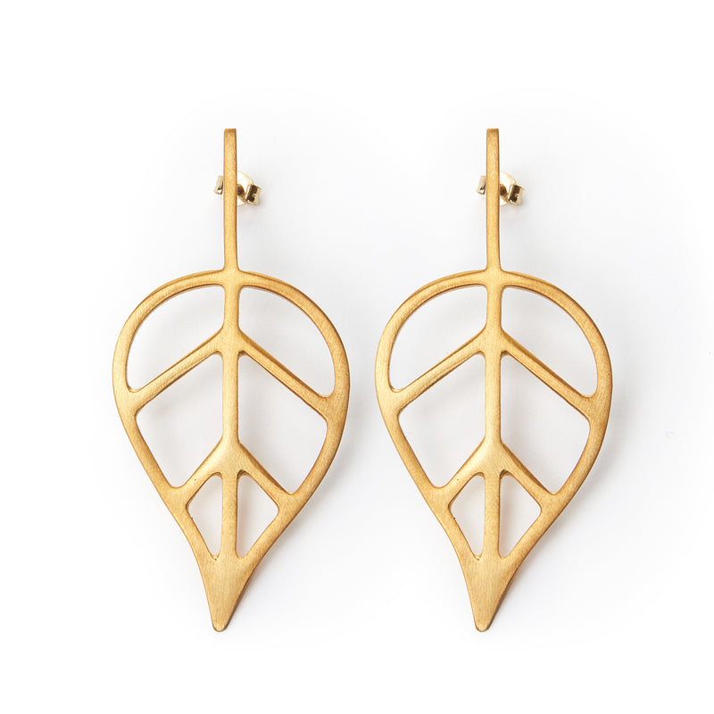 Beech Leaf earrings 1