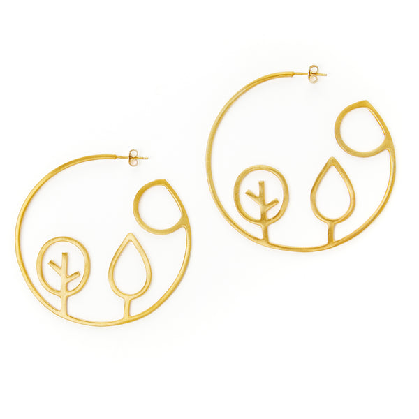 Autumn Hoop Earrings
