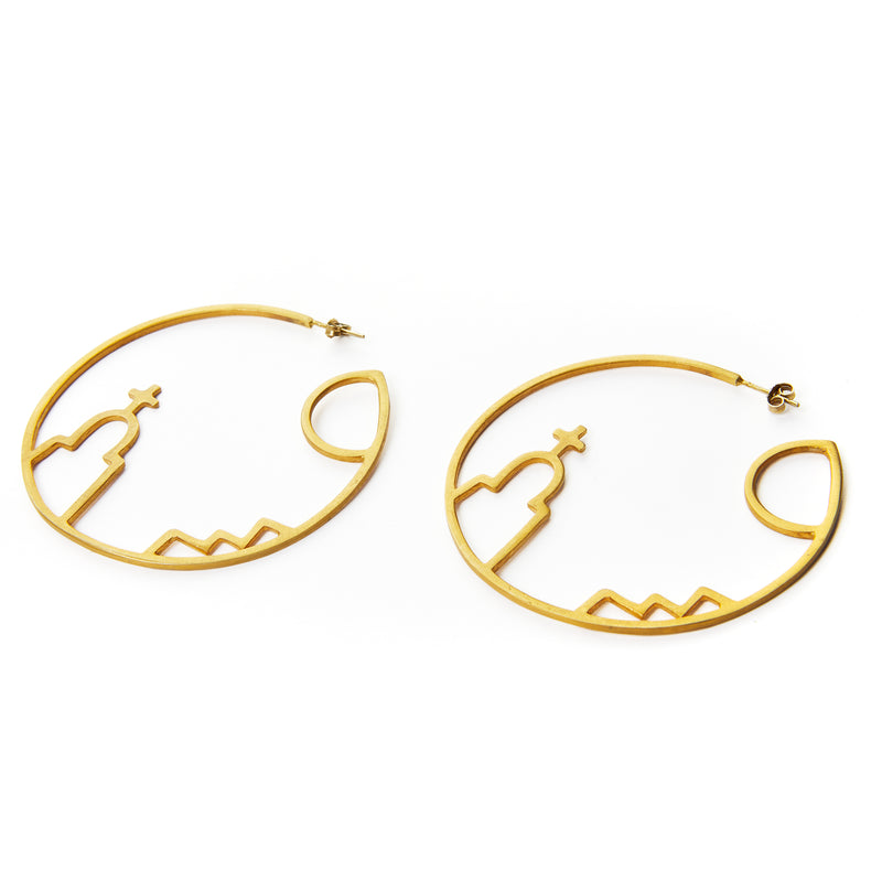 Greek Summer Hoop Earrings