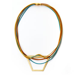 Colourful Trapezoid Bib Necklace