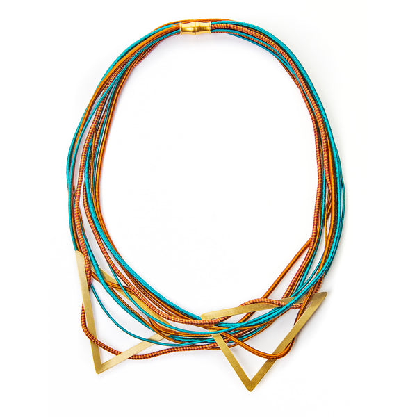 Triangle Double Bib Necklace
