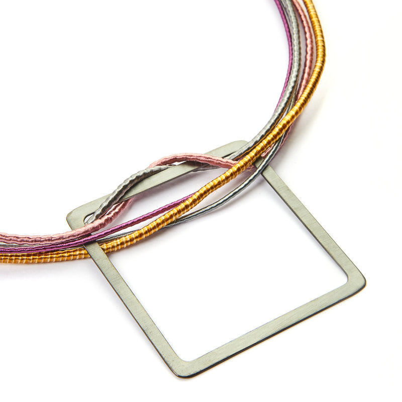 Square Multi Strand Necklace (Pal)