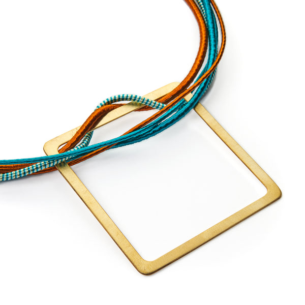 Square Multi Strand Necklace (Turquoise)