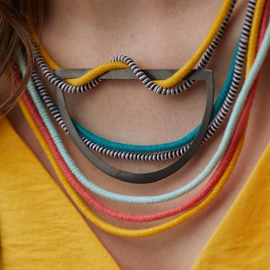Fabric Bib Necklace