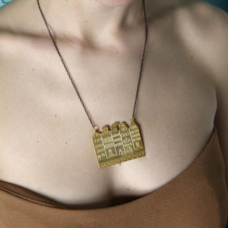Amsterdam skyline chain-necklace