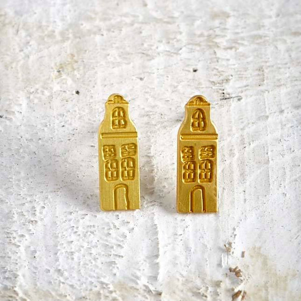 Amsterdam Houses Stud Earrings