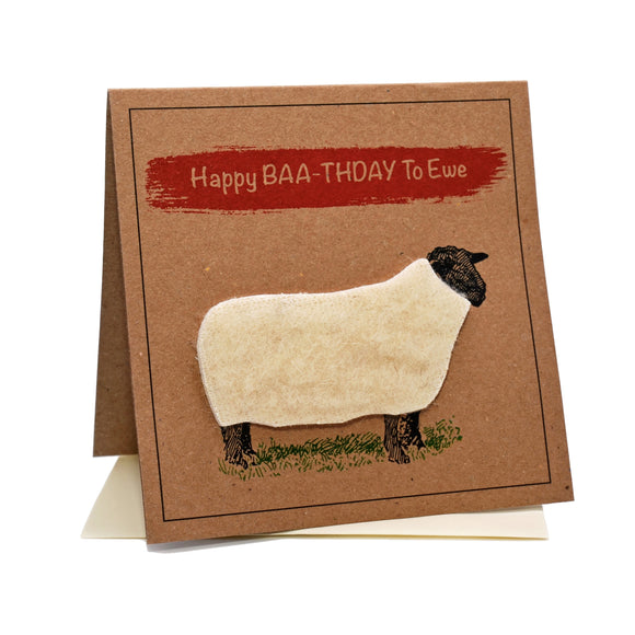 Sheep (Happy Baa-thdday To Ewe) Birthday Card
